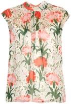 Erdem Iona Carnation-print silk-voile top