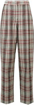 Derek Lam high-rise plaid trousers - women - Virgin Wool - 38