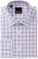 David Donahue Check Regular Fit Dress Shirt