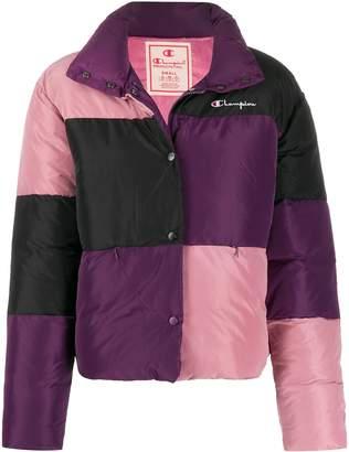 Champion colour-blocked logo puffer jacket