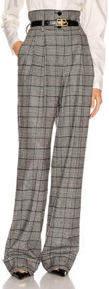 Dolce & Gabbana Check High Waisted Pant in Grey | FWRD