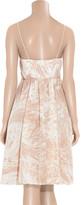 Tibi Marble-print silk wrap dress