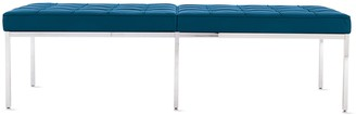 Design Within Reach Florence Knoll Three-Seater Bench in Leather