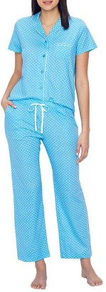 Karen Neuburger Geo Girlfriend Knit Pajama Set