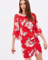 Wallis Oriental Flute Sleeve Dress