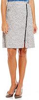 Kasper Tweed Zipper Detail Skirt