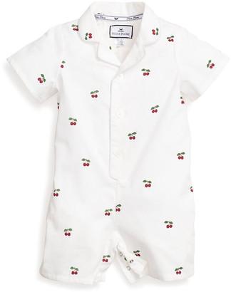 Petite Plume Girl's Cherries Summer Shortall, Size Newborn-24 Months