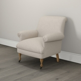 The White Company Draycott Scroll-Back Linen Union Chair