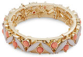 RJ Graziano Cabochon and Crystal Stretch Bracelet
