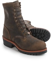 """Chippewa Tywin Logger Leather Work Boots - Steel Safety Toe, 9"""" (For Men)"""