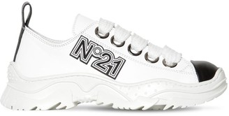 N°21 Logo Patch Leather Sneakers