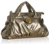bronze metallic leather 'Hysteria' satchel