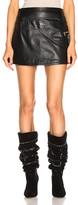 Sandy Liang Fanny Skirt in Black   FWRD