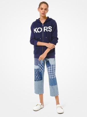 MICHAEL Michael Kors Logo Cotton Zip-Up Hoodie