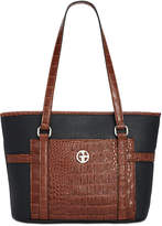 Giani Bernini Croc-Embossed Saffiano Tote, Created for Macy's