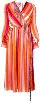 MSGM striped tassel dress