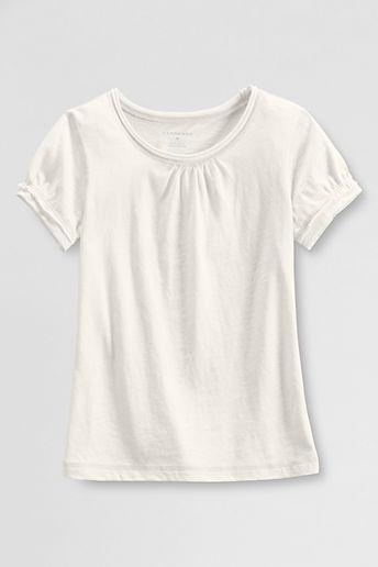 Lands' End Little Girls' Short Sleeve Tissue T-shirt