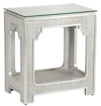 Chelsea House Yangon End Table Table Base Color: Silver