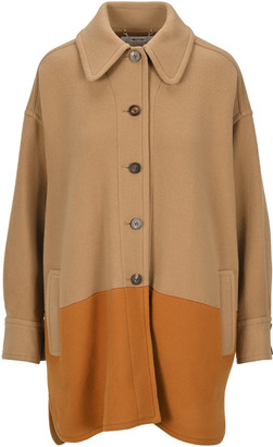 Chloé Two Tone Single Breasted Coat