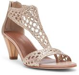 Donald J Pliner Women's VERONA - Woven Metallic Leather Heeled Sandal