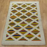 Novica Hand-crafted Mexican Wool 'Diamonds In Color' Rug (3'6 x 6')