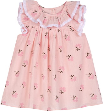 Pippa & Julie Floral Eyelet Trim Cotton Dress