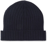 A.P.C. Ribbed Wool Beanie - Navy