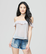 Prince & Fox Ruffled Cold Shoulder Top