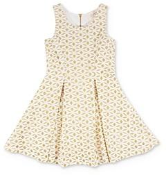 Hannah Banana Girls' Glitter Fit-and-Flare Dress - Little Kid