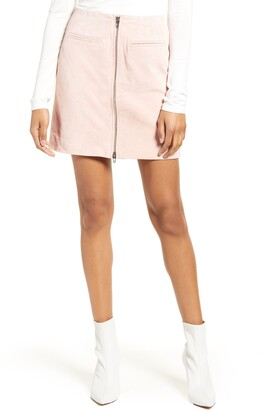 Blank NYC Suede Miniskirt