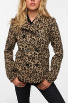 Urban Outfitters Pins and Needles Leopard Peacoat