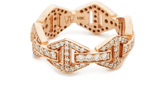 Walters Faith Keynes All Diamond Hexagon Stackable Ring