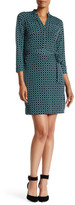 Donna Morgan V-Neck Diamond Print Shirt Dress