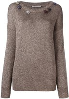 Christopher Kane gem embellished sweater - women - Polyester/Viscose - XS