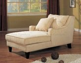 Coaster Home Furnishings Coaster Comfortable Microfiber Chaise Lounger, Light Beige
