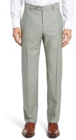 Zanella Men's Devon Flat Front Solid Wool Trousers