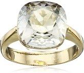 Cara Swarovski Crystal Square Stone Ring, Size 7