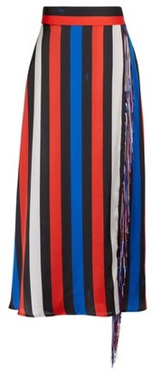 MSGM Long skirt with fringes