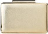 LK Bennett Nina metallic leather box clutch