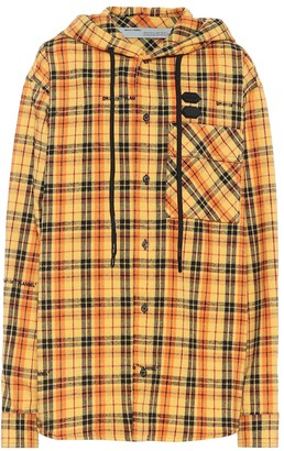 Off-White Checked cotton-blend jacket