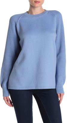 Vince Raglan Sleeve Ribbed Knit Crew Neck Sweater