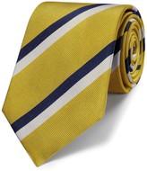 Charles Tyrwhitt Yellow silk classic stripe tie