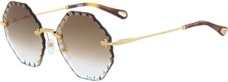 Chloé Rosie Rimless Scalloped Sunglasses
