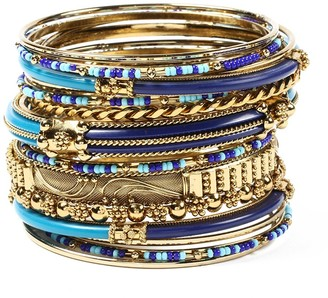 Amrita Singh Women's Bracelets Blue/Turq - Blue & Teal Monaco Bangle Set