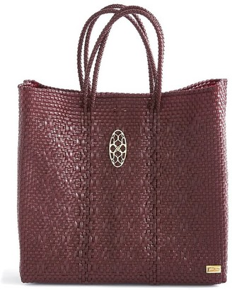 Lolas Bag Medium Burgundy Tote Bag