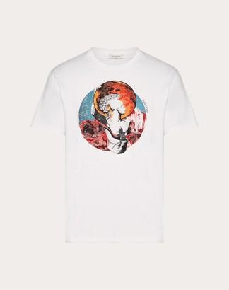 Valentino Soul Planets T-shirt Man White/mars 100% Cotone L
