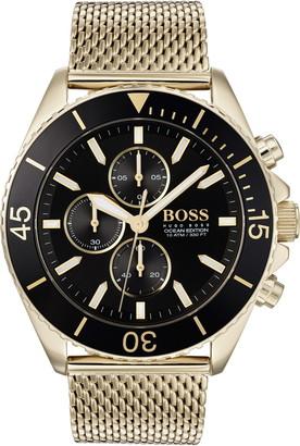 BOSS Ocean Edition Chronograph Mesh Strap Watch, 46mm