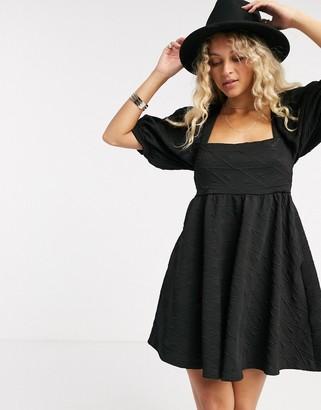 Free People Violet mini dress in black