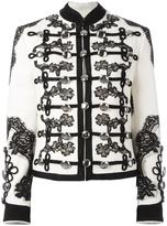 Dolce & Gabbana floral embroidered military jacket - women - Silk/Cotton/Nylon/Virgin Wool - 40