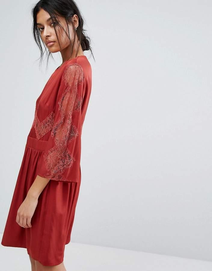 Gestuz Lace Insert Dress